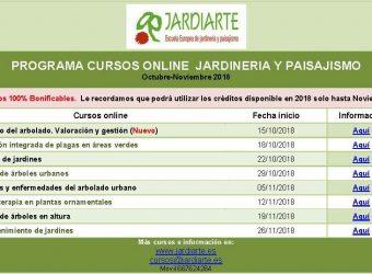 JARDIARTE Curso jardineria y paisajismo Octubre-Noviembre 2018